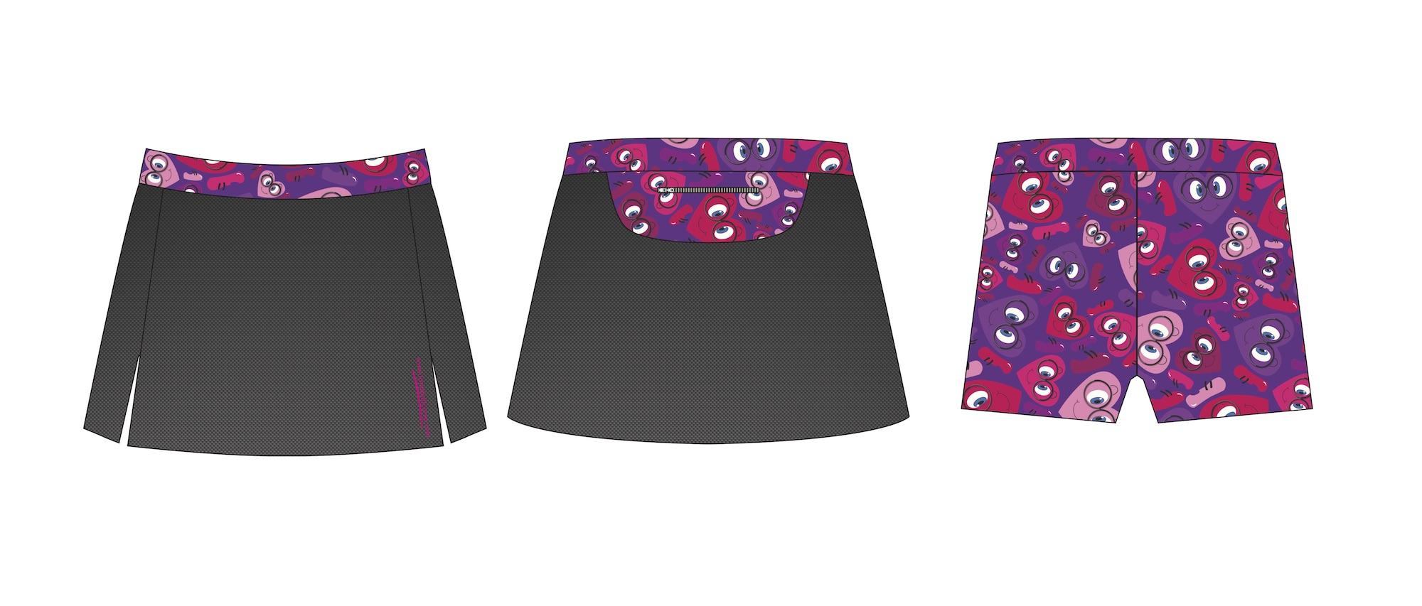 Cosmo Carbon Running Skirt