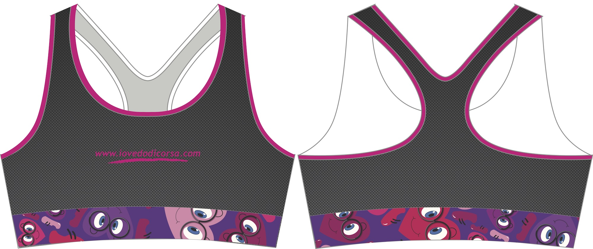 Cosmo Carbon Running Bra