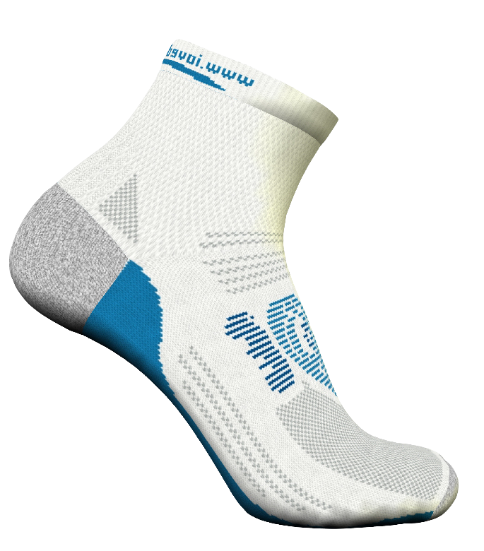Cosmo White Running Socks